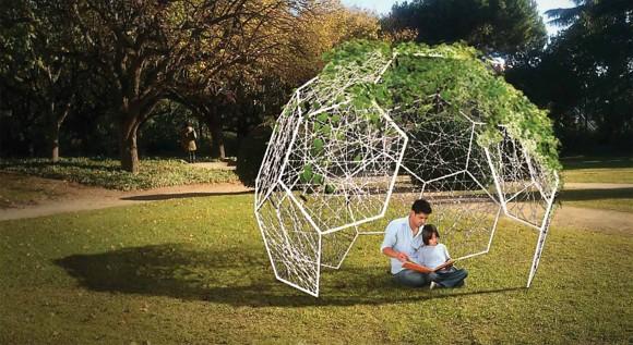 estructura jardin