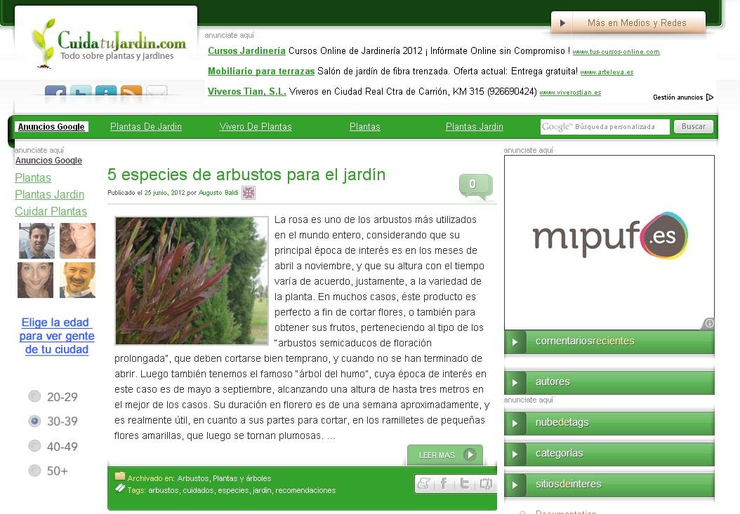 blog cuida tu jardin medios y redes