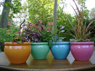 Decoracion mueble sofa macetas de colores for Tu jardin con enanitos acordes