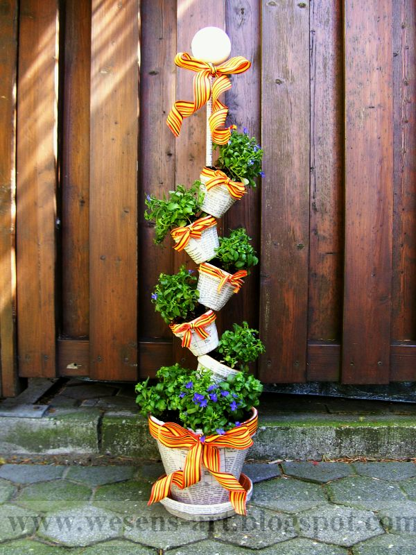 Decora con las macetas que te sobran ideas para jardines for Macetas decoradas para jardin