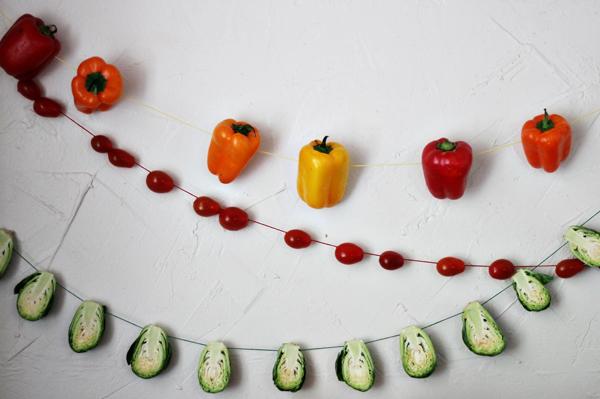 Guirnalda de verduras para decorar