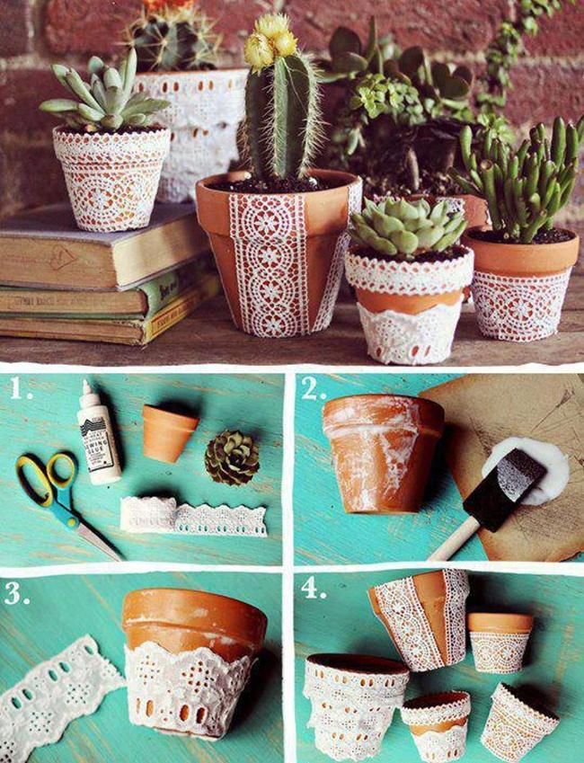 DIY macetas decoradas