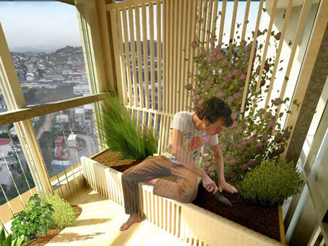 balcon interior