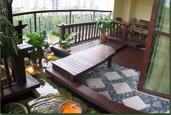camino de agua en una terraza
