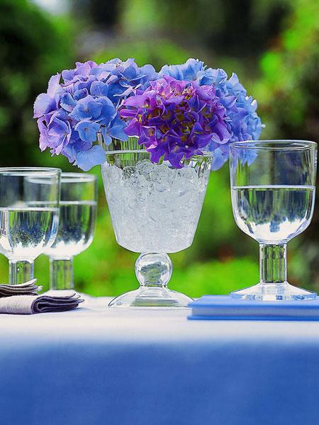 decorar con hortensias