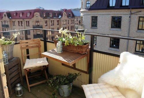 terraza pequeña decorada