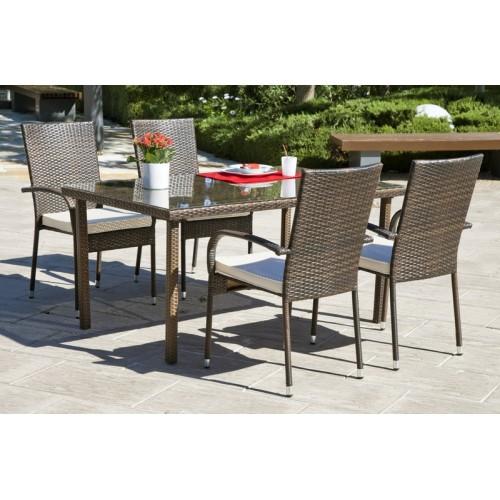 Muebles de jardín - set de mesa y sillas - 4