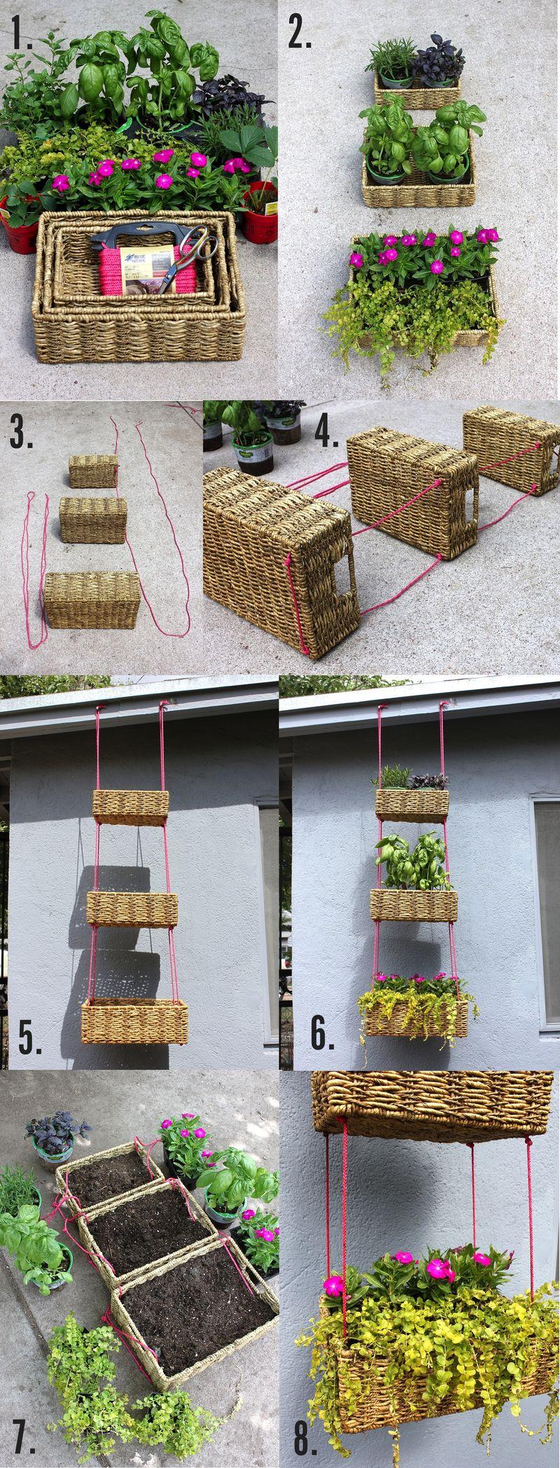 M s de 1000 im genes sobre jardines macetas y flores en for Jardin vertical colgante
