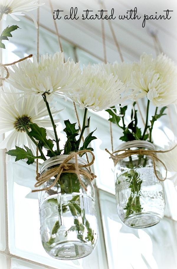 decorar con recipientes y flores
