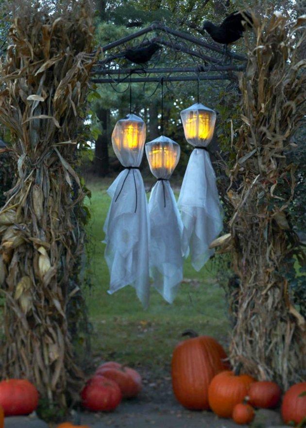 decorar la entrada de casa para halloween