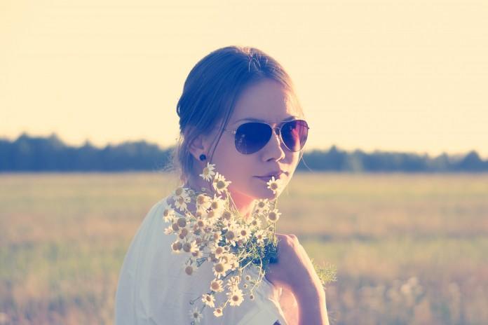 Corona de flores naturales 1