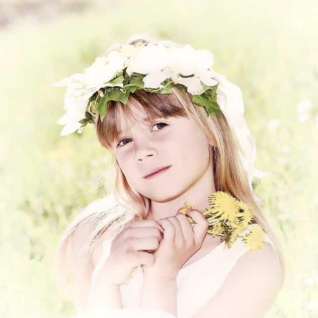 Corona de flores naturales 2