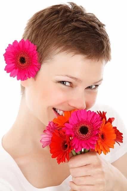 Corona de flores naturales 3