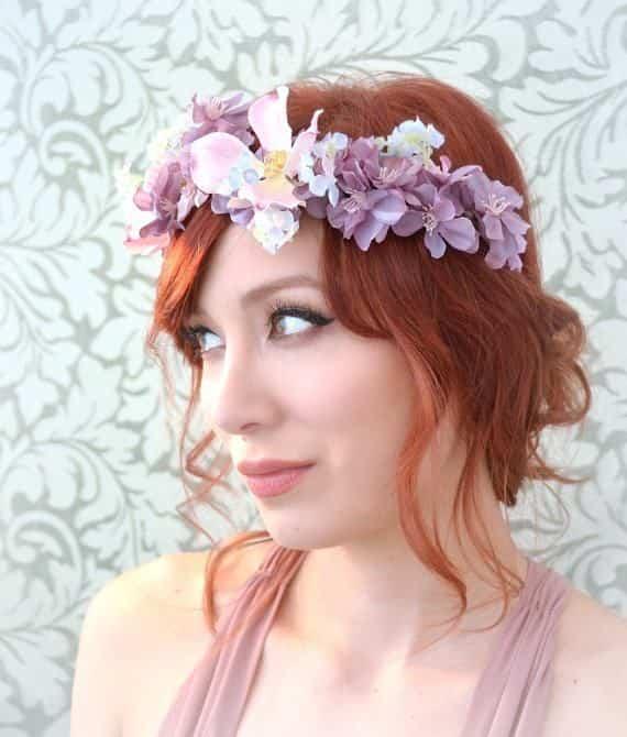 Corona de flores naturales 4