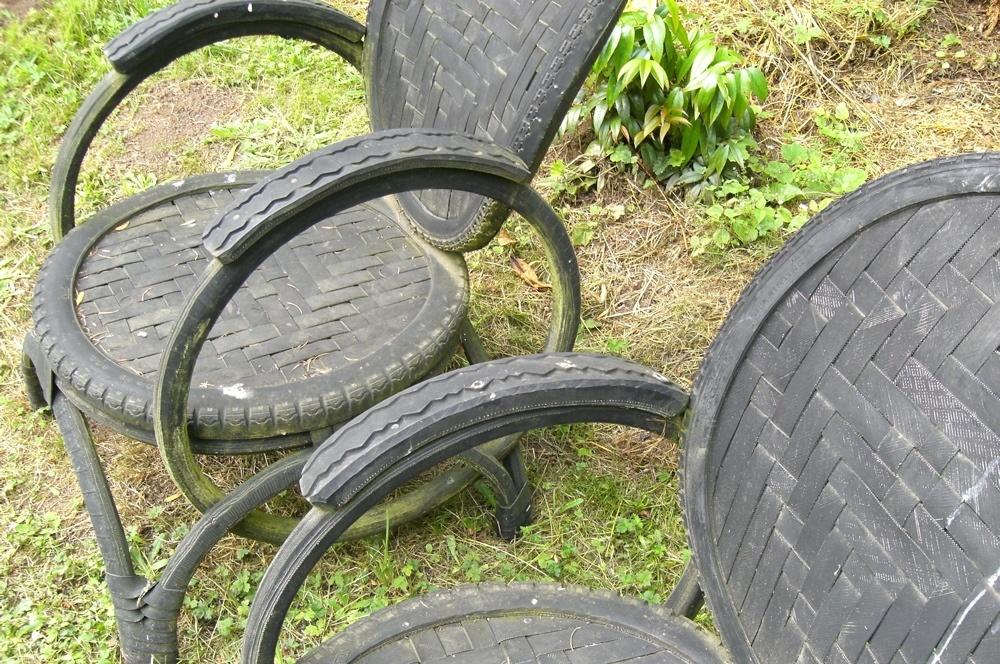 Decorar el jardín con neumáticos 3