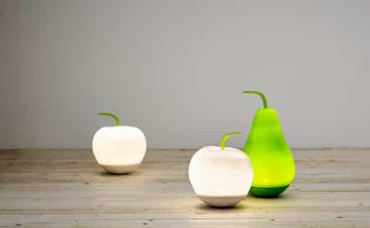 lámparas en forma de fruta