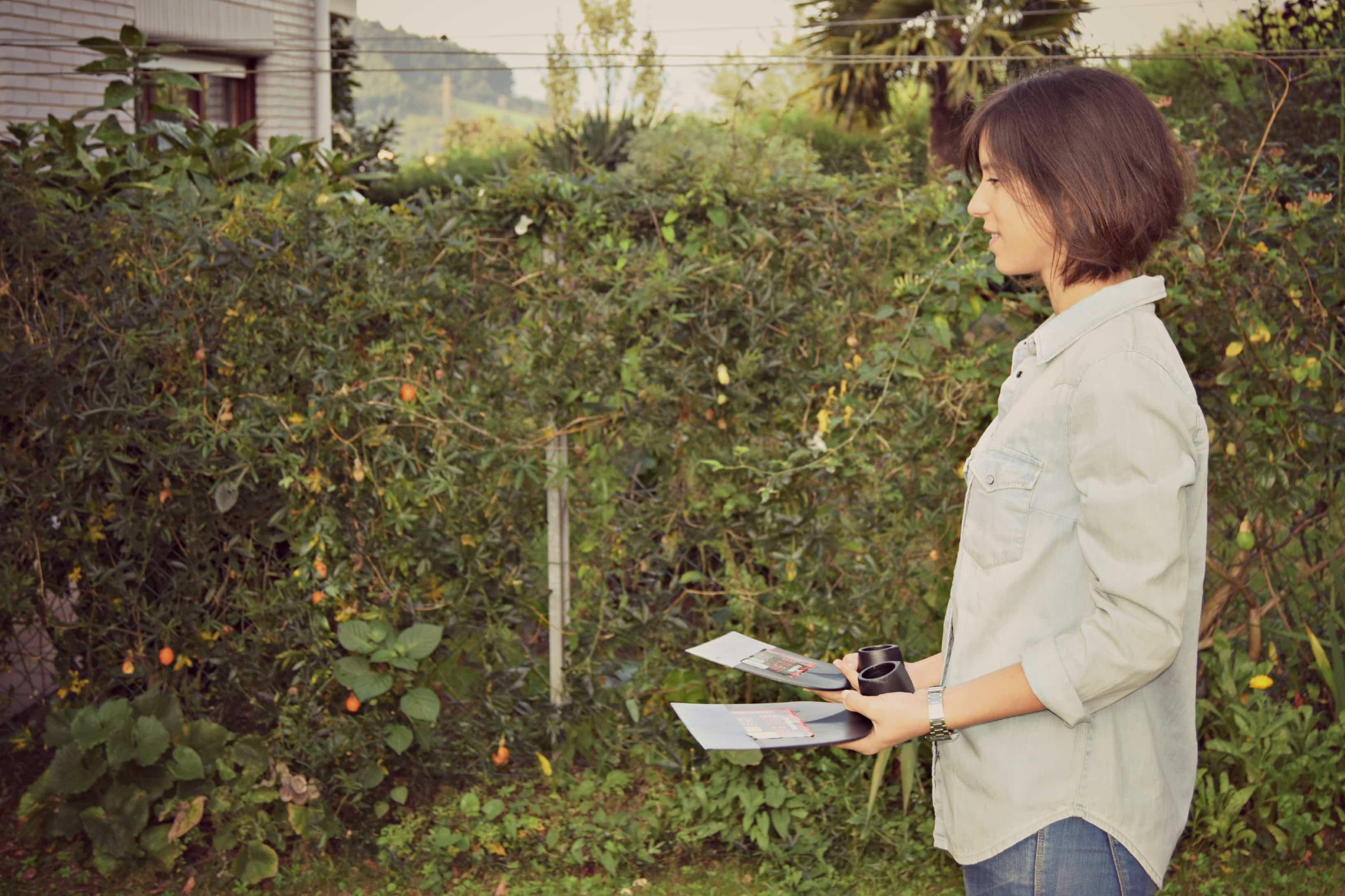 hacer pesas con azada de Bellota 2 - herramientas de jardineria