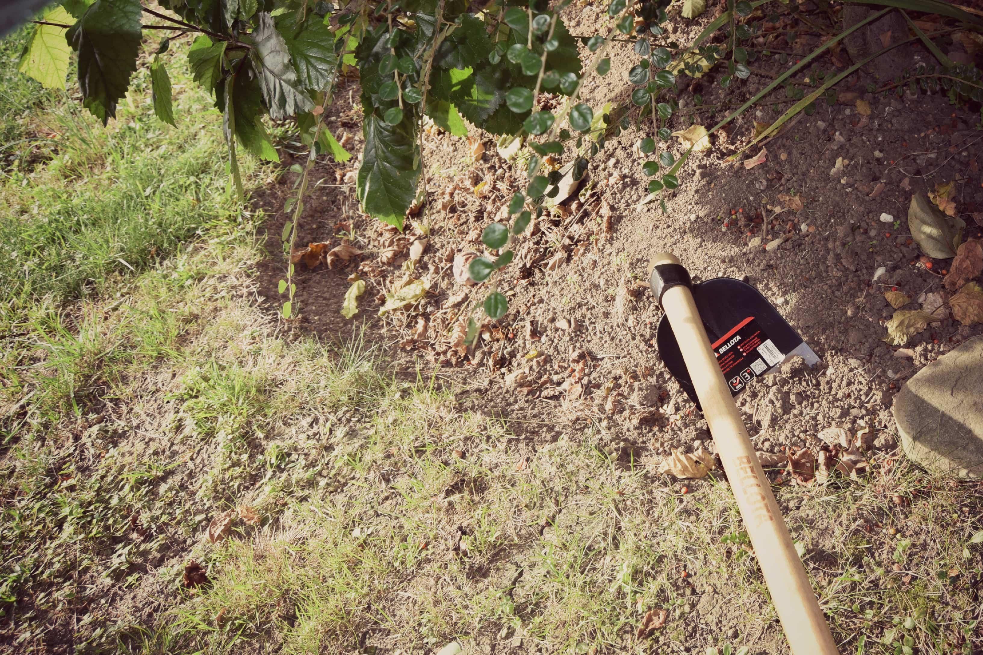 uso de una azada Bellota - herramientas de jardineria