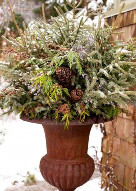 decorar un jardín en invierno - Ideas para decorar un jardín