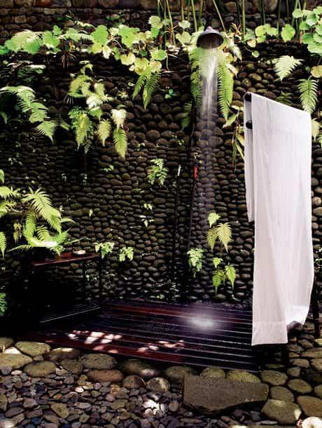 Modelos de duchas al aire libre