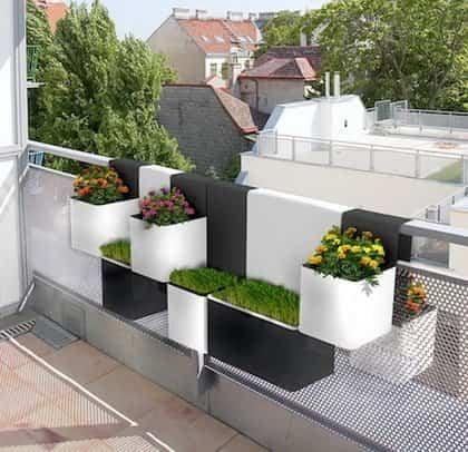 Modelos de originales macetas para balcones