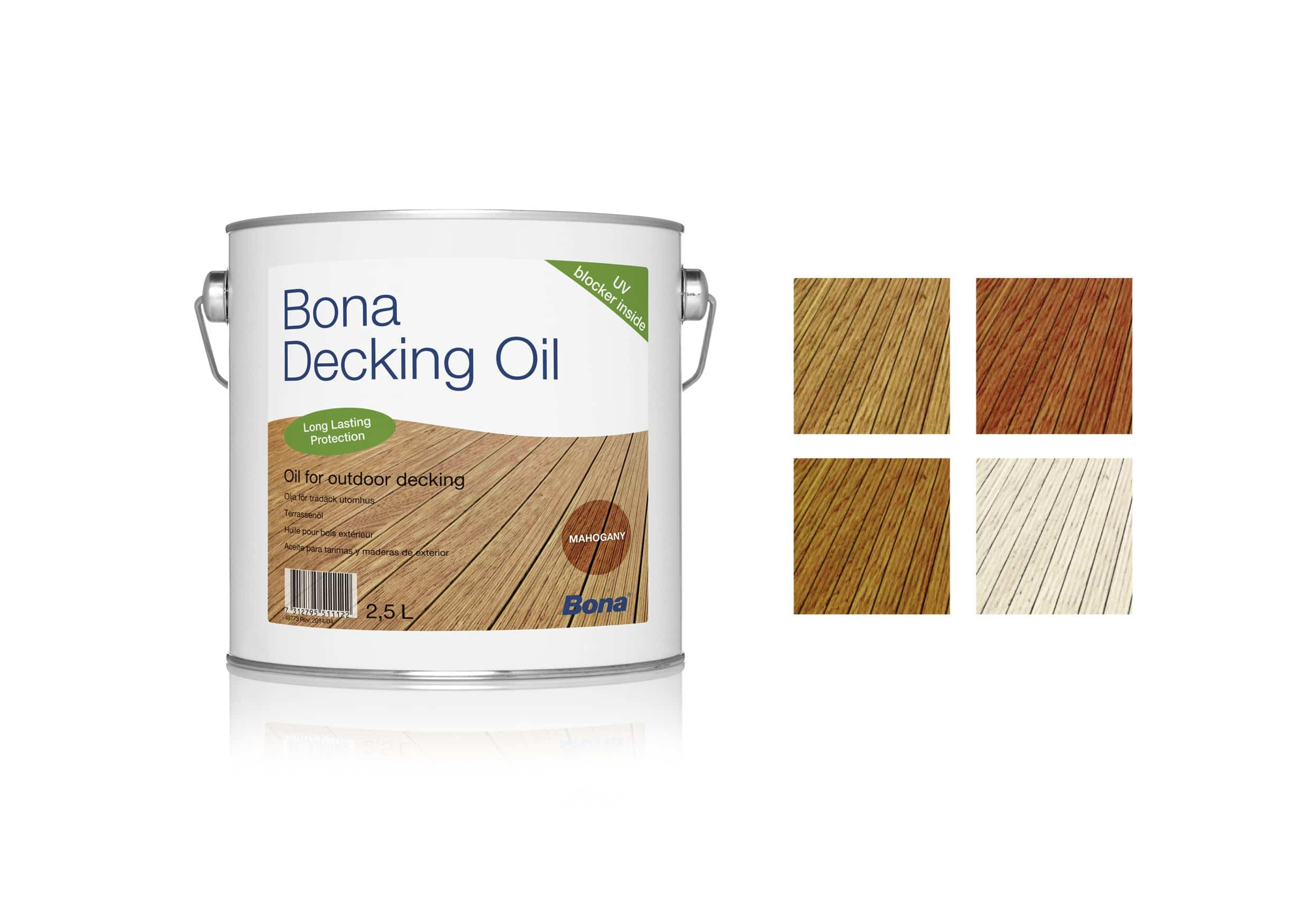 colores disponibles de Bona decking oil