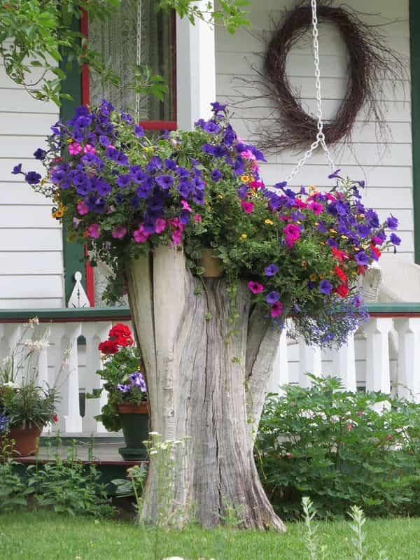 decorar un jardín grande