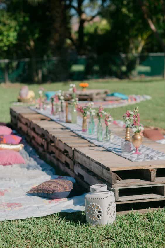 jardín para fiestas
