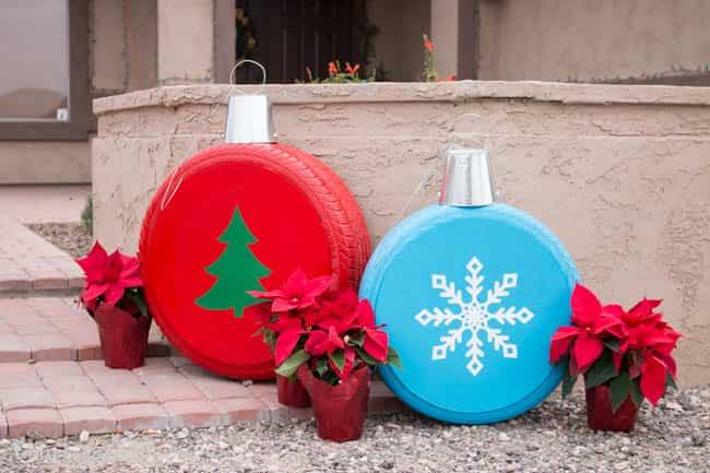 adornos navideños para jardín