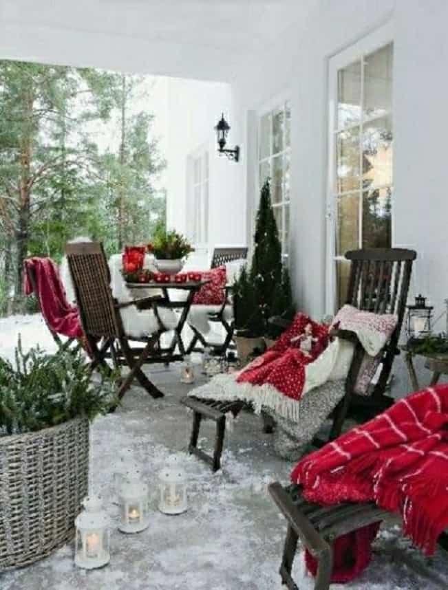 terraza en Navidad