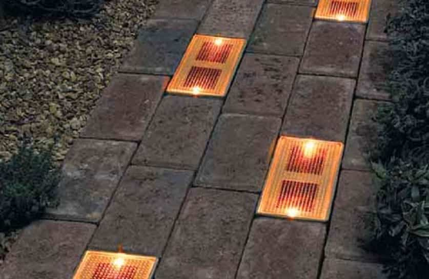 iluminar las zonas de exterior