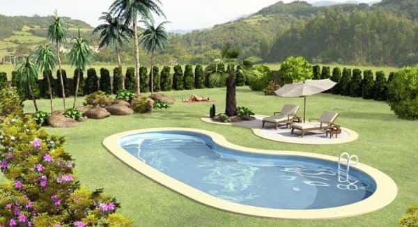 arboles piscina