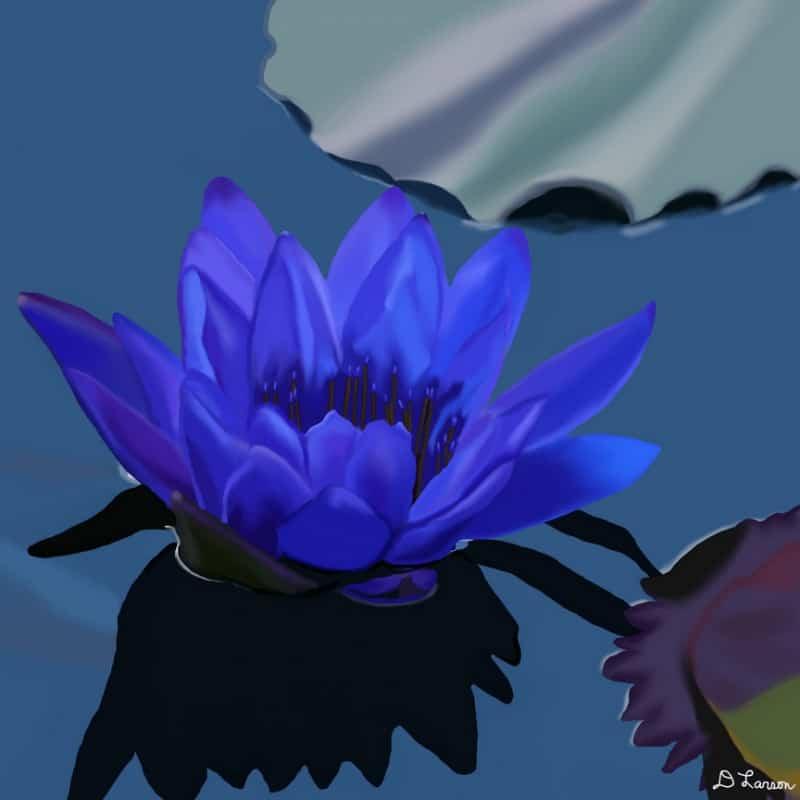 flores azules para decorar