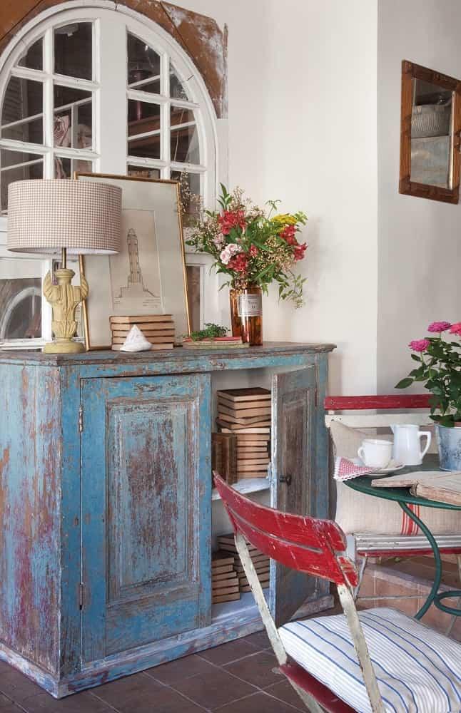 mueble vintage dos colores