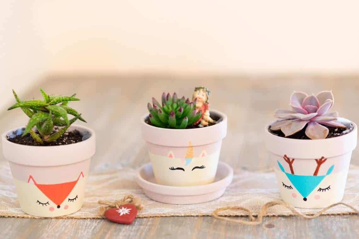 Ideas para decorar las macetas de tu hogar