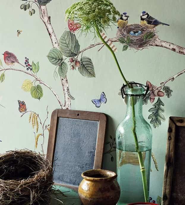 Decorar con papel pintado botánico para introducir la naturaleza en tus estancias