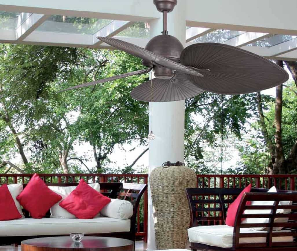 Las últimas tendencias en ventiladores de techo para el jardín y terraza