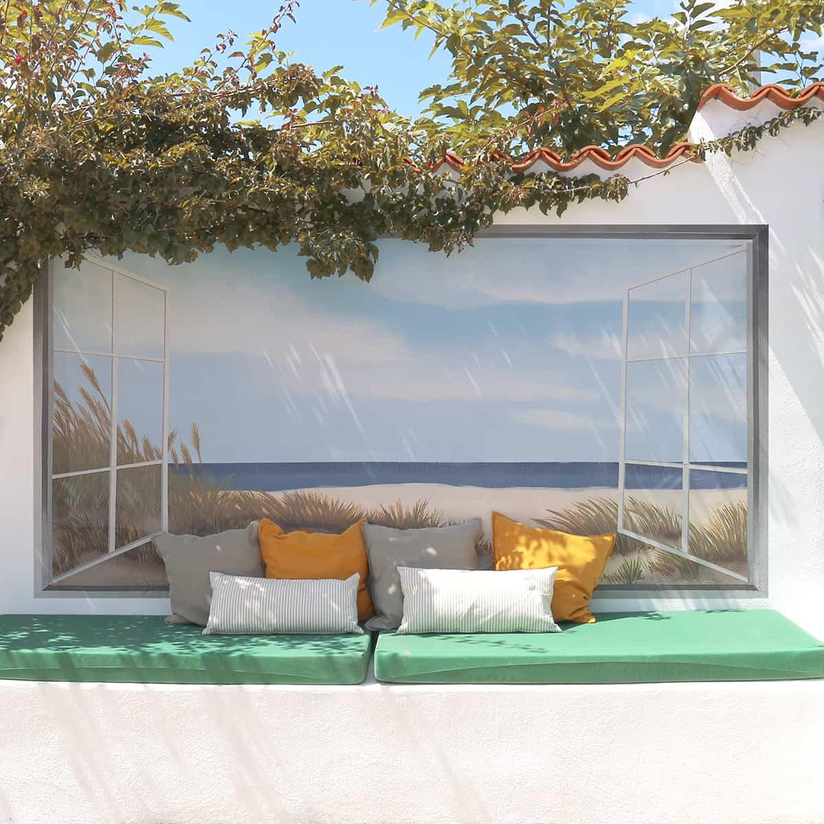 adorna las paredes de tus zonas exteriores con un mural pintado a mano 1